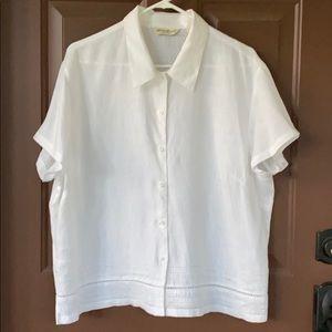 Size XL Misses, 100% Linen S/S Blouse